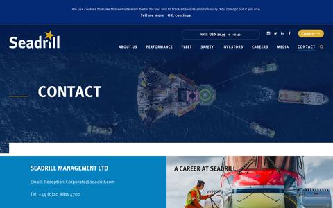 Screenshot of Contact Page seadrill.com - Contact – Seadrill - captured July 28, 2018