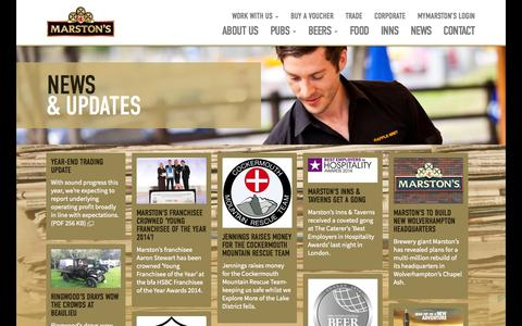 Screenshot of Press Page marstons.co.uk - News | Marston's PLC - captured Oct. 27, 2014