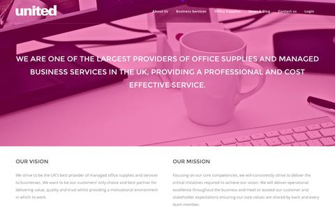 Screenshot of About Page united-uk.com - About Us - United Managed Services - captured Nov. 29, 2016