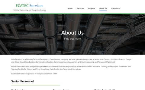 Screenshot of About Page ecatecservices.com - About Us - Ecatec Services - captured Nov. 9, 2018