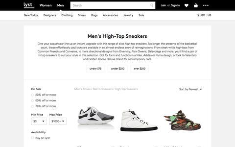 High-Top Sneakers | Men's High Tops & Hi Top Trainers | Lyst