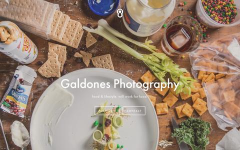 Screenshot of Home Page galdones.com - GALDONES PHOTOGRAPHY - captured Jan. 25, 2016