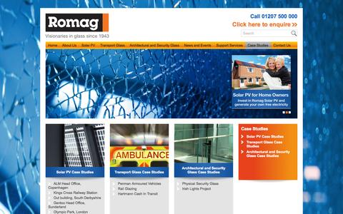 Screenshot of Case Studies Page romag.co.uk - Case Studies | Romag - captured Oct. 7, 2014