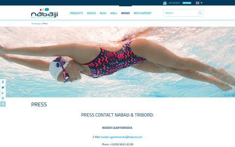 Screenshot of Press Page nabaiji.co.uk - Press | Nabaiji - captured Dec. 21, 2016