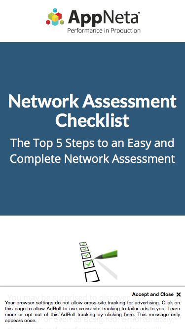 AppNeta Whitepaper | Network Assessment Checklist