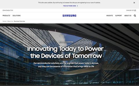 Screenshot of About Page samsung.com - About us - Our Business Overview   Samsung Semiconductor   Samsung Semiconductor Global Website - captured July 13, 2018