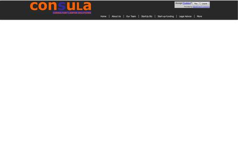 Screenshot of Home Page consula.co.uk - Consula | Legal Consultant, Start Up Support - captured Oct. 2, 2014