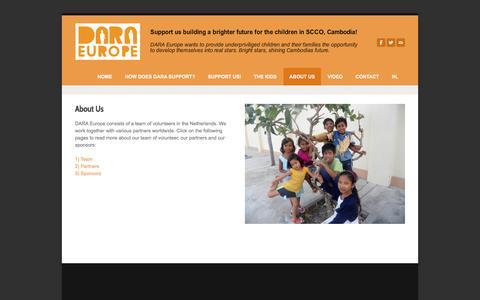 Screenshot of About Page dara-europe.org - About us - DARA Europe - captured Jan. 7, 2016