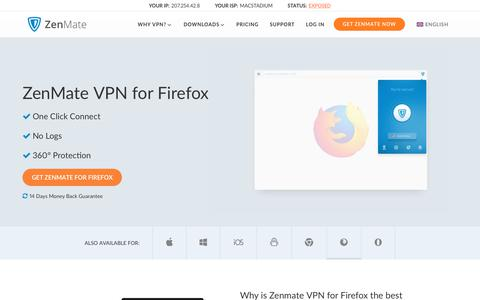 Firefox VPN by ZenMate ‒ Internet Security and Privacy