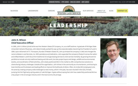 Screenshot of Team Page westernls.com - Our Land Service Company Leaders | Western Land Services - captured Feb. 14, 2016