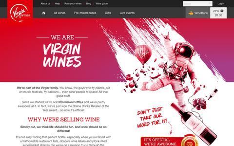 Screenshot of About Page virginwines.co.uk - About Virgin Wines | Virgin Wines - captured July 15, 2017