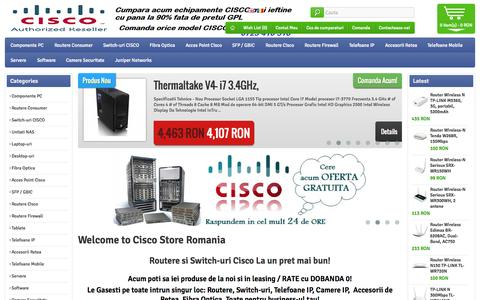 Screenshot of Home Page cisco-shop.eu - Cisco Second Hand. Echipamente Cisco - Retelistica! Switch Cisco, Used Cisco - captured Sept. 23, 2014