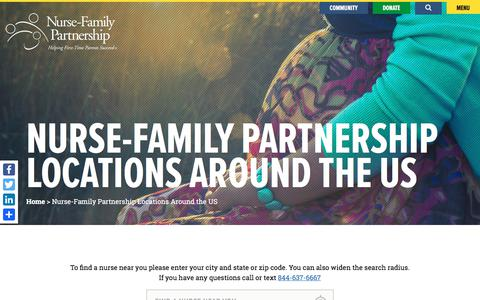 Screenshot of Locations Page nursefamilypartnership.org - Nurse-Family Partnership Locations Around the US - Nurse-Family Partnership - captured Nov. 13, 2017