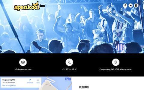 Screenshot of Contact Page apenkooi.com - Contact - Apenkooi inc. - captured Oct. 29, 2014