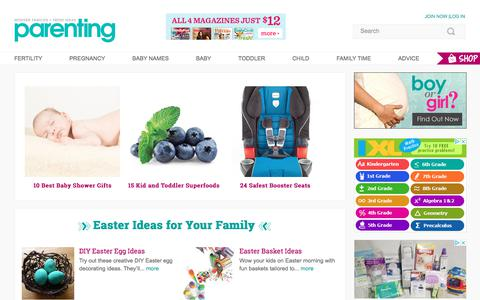 Screenshot of Home Page parenting.com - Home | Parenting - captured Feb. 25, 2018