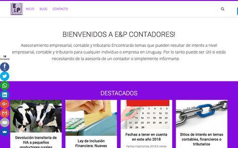 Screenshot of Blog eypcontadores.com - E&P Contadores - captured Sept. 25, 2018