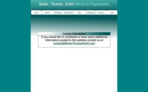 Screenshot of Contact Page butlerthurbersmith.com - Contact Us - captured Oct. 25, 2018
