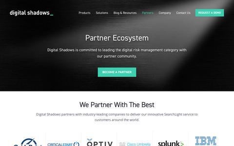 Become a Partner   Digital Risk Management   Digital Shadows   Digital Shadows