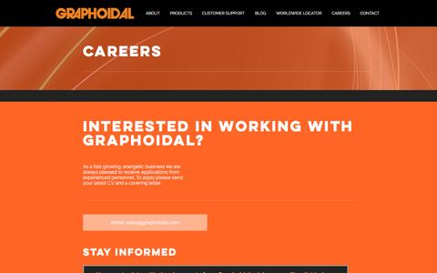 Screenshot of Jobs Page graphoidal.com - GRAPHOIDAL DEVELOPMENTS LTD | CAREERS - captured Nov. 13, 2016