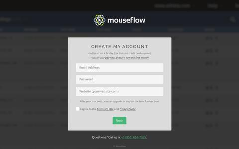 Screenshot of Signup Page mouseflow.com - Sign Up - Session Replay, Heatmaps, Funnels, Forms & User Feedback - Mouseflow - captured Sept. 21, 2018