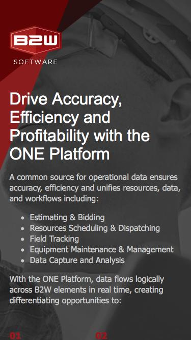 Drive Accuracy, Efficiency and Profitability with the B2W ONE Platform