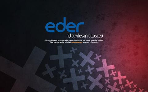 Screenshot of Home Page eder.es - EDER - captured Sept. 27, 2018