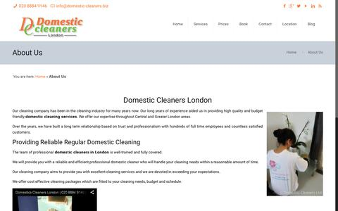 Screenshot of About Page domestic-cleaners.biz - Domestic Cleaners London | Domestic Cleaning London | Cleaning Company - captured Feb. 9, 2016
