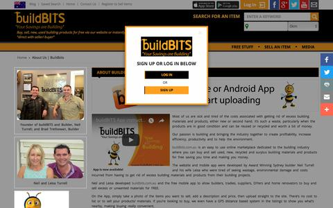 Screenshot of About Page buildbits.com.au - About Us | Buildbits - captured Sept. 24, 2018
