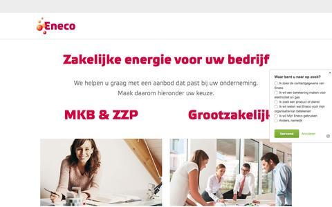 Eneco zakelijk – Duurzame energie voor de zakelijke markt