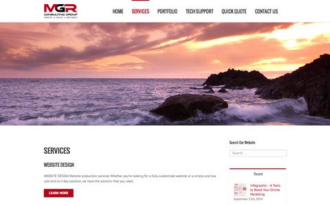 Screenshot of Services Page mgrconsultinggroup.com - Services | MGR Consulting Group | MGR Consulting Group - captured Oct. 29, 2014