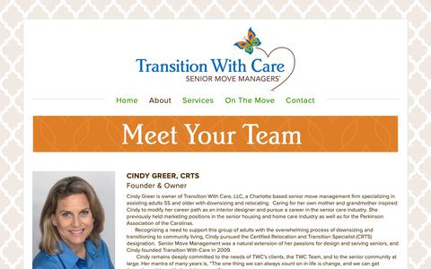 Screenshot of Team Page transitionwithcare.net - Our Team — Transition With Care - captured Nov. 18, 2018