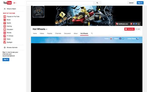 Screenshot of YouTube Page youtube.com - Hot Wheels  - YouTube - captured Nov. 3, 2014