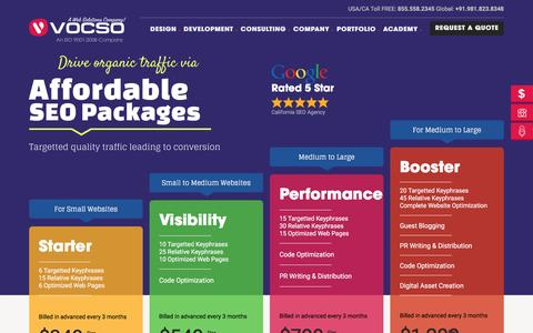 Screenshot of Pricing Page vocso.com - SEO Packages India | Affordable SEO Marketing Plans, Prices | VOCSO - captured March 8, 2017