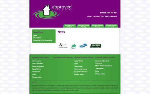 Screenshot of Press Page approvedfinance.com.au - News | Approved Finance - captured Oct. 4, 2014