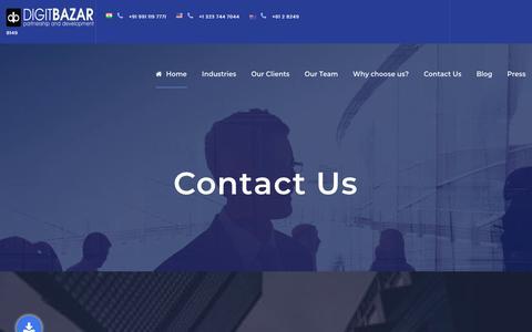 Screenshot of Contact Page digitbazar.com captured July 22, 2019