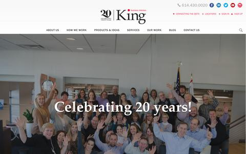 Screenshot of Home Page kbiinc.com - Office Furniture Columbus | King Business Interiors - captured Sept. 29, 2018