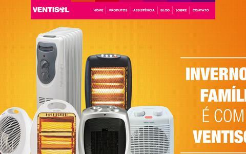 Screenshot of Home Page ventisol.com.br - Ventisol - O ventilador do Brasil - captured Feb. 16, 2016