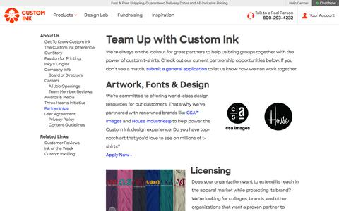 Custom Ink Partnerships - Partner with Custom Ink
