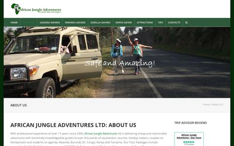 Screenshot of About Page junglesafarisuganda.com - About us - African Jungle Adventures | Uganda safari Company - captured Oct. 3, 2018