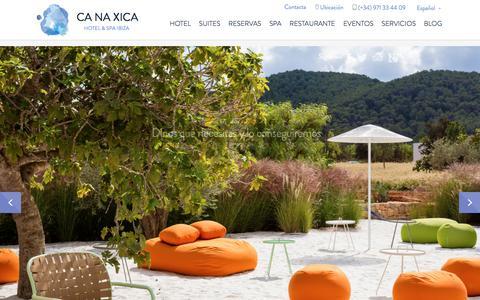 Screenshot of Home Page canaxica.com - Home - Ca Na Xica - captured Jan. 23, 2016