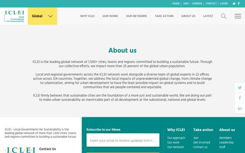Screenshot of About Page iclei.org - ICLEI - captured Dec. 8, 2018