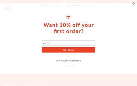 Screenshot of Contact Page runjanji.com - Contact Us – Janji - captured Oct. 5, 2019