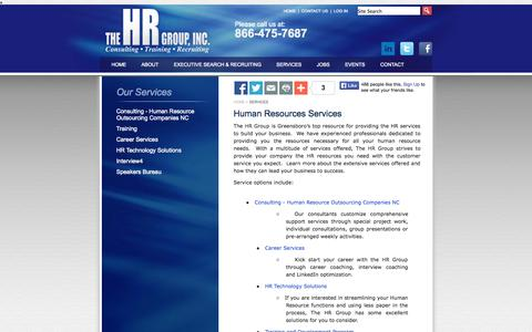 Screenshot of Services Page thehrgroupinc.net - Human Resources Services, Piedmont-Triad | HR Consulting | Piedmont-Triad - captured Sept. 30, 2014