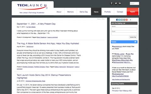 Screenshot of Press Page techlaunch.com - Latest News from TechLaunch | TechLaunch - captured Sept. 22, 2014