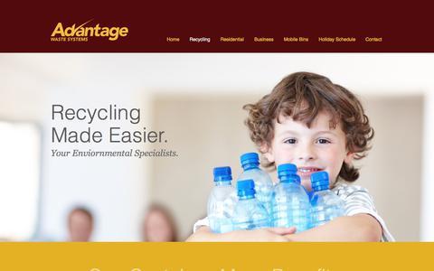 Screenshot of Services Page advantagewastesystems.com - Advantage Waste | Recycling - captured July 29, 2018