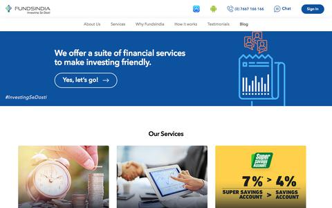 Screenshot of Services Page fundsindia.com - Online Financial Services in India – Fundsindia.com - captured June 25, 2017