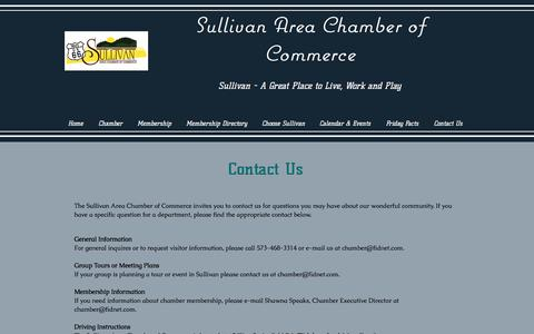Screenshot of Contact Page Maps & Directions Page sullivanmochamber.com - sullivanchamber | Contact Us - captured Jan. 16, 2018