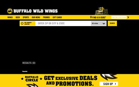 Screenshot of Locations Page buffalowildwings.com - Find a B-Dubs¨ Near You | Store Locations & Contact Info - captured Jan. 7, 2016