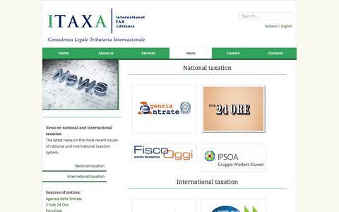 Screenshot of Press Page itaxa.it - ITAXA | News di fiscalità nazionale e internazionale - captured Oct. 6, 2014