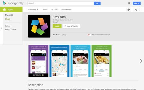 Screenshot of Android App Page google.com - FiveStars - Android Apps on Google Play - captured Oct. 28, 2014